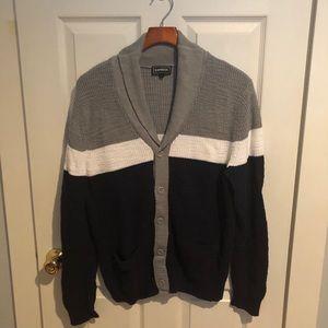 Color block cardigan sweater